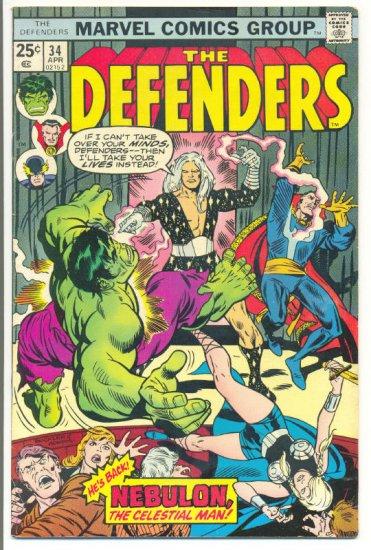 Defenders #34 Nebulon & The Bozos 1976 Buscema Mooney