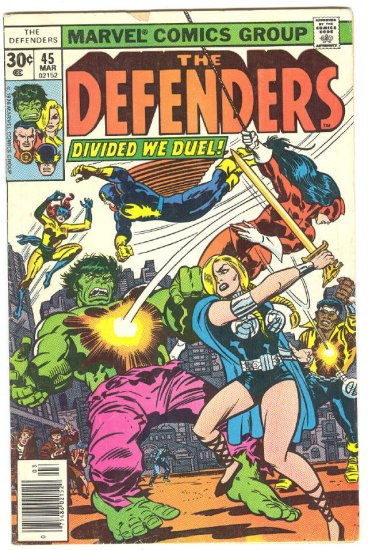 Defenders #45 Dived We Duel Early Giffen Art
