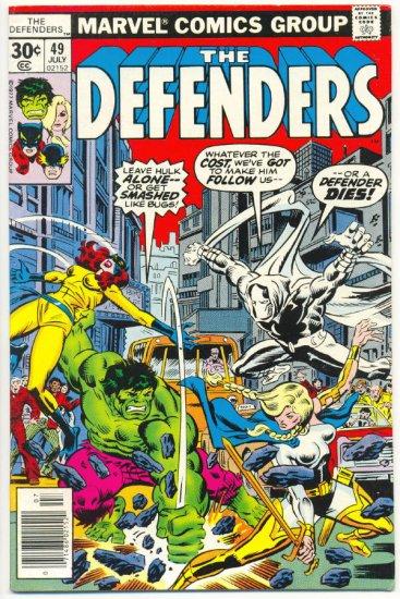 Defenders #49 Who Remembers Scorpio Giffen Art Moon Knight !