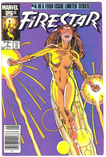 Firestar #4 vs The White Queen Barry Smith Cover !