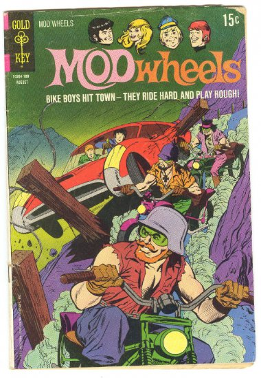 Mod Wheels #3 They Ride Hard And Play Rough! HTF 1971 Gold Key