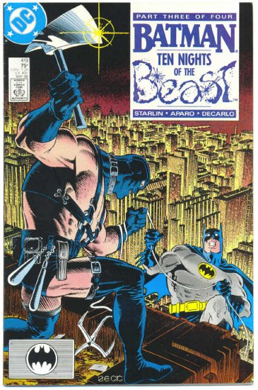 Batman #419 Ten Nights Of The Beast Starlin Zeck Aparo !