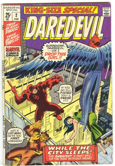 Daredevil Special #2 While The City Sleeps...  Wally Wood Art 1971 !