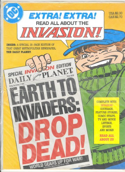 Daily Planet Special Invasion Edition Sealed 1988