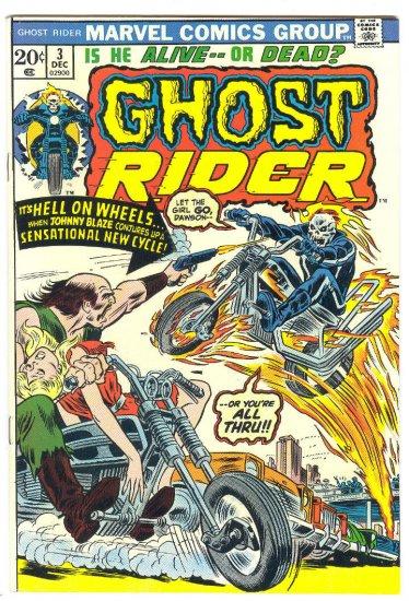 Ghost Rider #3 Hell On Wheels Mooney Art 1973 VF-