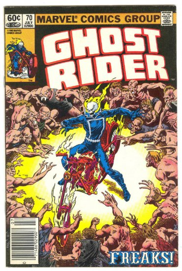 Ghost Rider #70 Freaks 1982