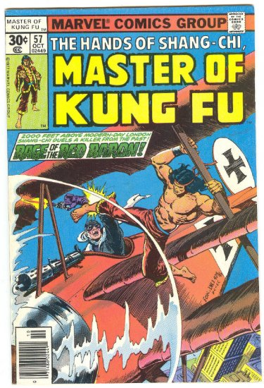 Master Of Kung Fu #57 Rage Of The Red Baron 1977