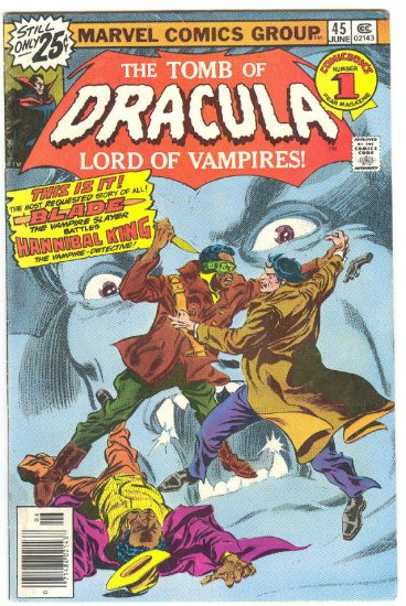 Tomb Of Dracula #45 Blade vs Hannibal King 1976