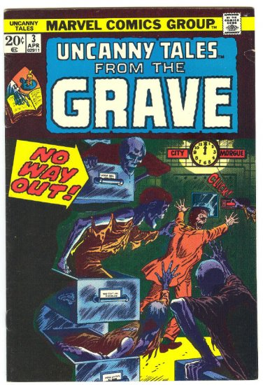 Uncanny Tales From The Grave #3 HTF 1974 Horror