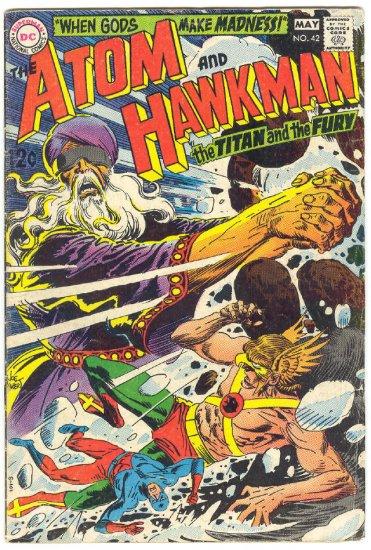 Atom & Hawkman #42 When Gods Make Madness Kubert Art 1969