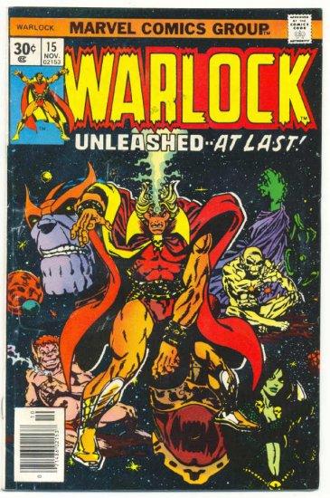 Warlock #15 Unleashed At Last Starlin Thanos Classic 1976