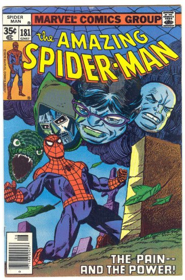 Amazing Spider-Man #181 The Pain And The Power 1978