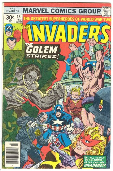 Invaders #13 The Golem Walks Again 1977