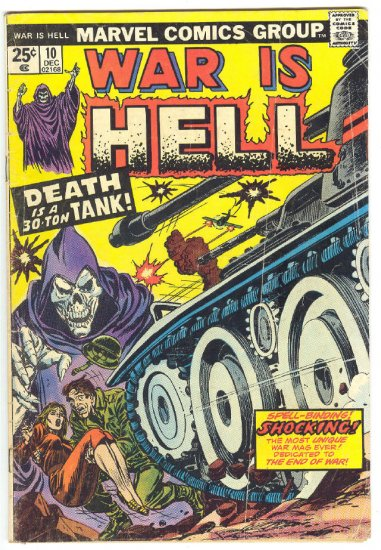 War Is Hell #10 Death Tank 1974