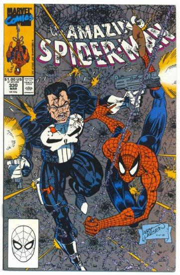 Amazing Spider-Man #330 vs The Punisher Larsen Art