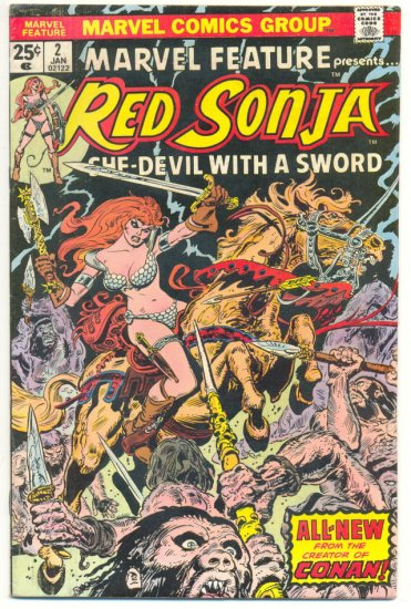 Marvel Feature #2 Red Sonja Thorne Art 1975 Classic