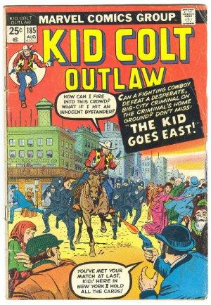 Kid Colt Outlaw #185 The Kid Goes East HTF Western 1974