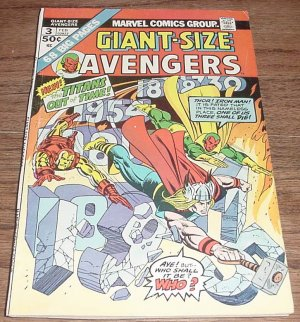 Giant-Size Avengers #3 Key Origin Of The Vision issue 1975