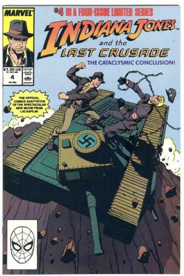 Indiana Jones And the Last Crusade #4 HTF 1989 Movie Adaptation