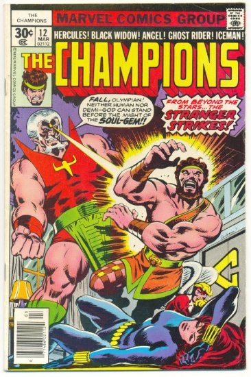 The Champions #12 The Stranger Strikes Byrne Art