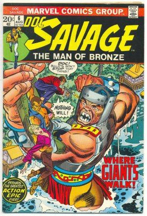 Doc Savage #6 Where Giants Walk Andru Art 1973 Classic