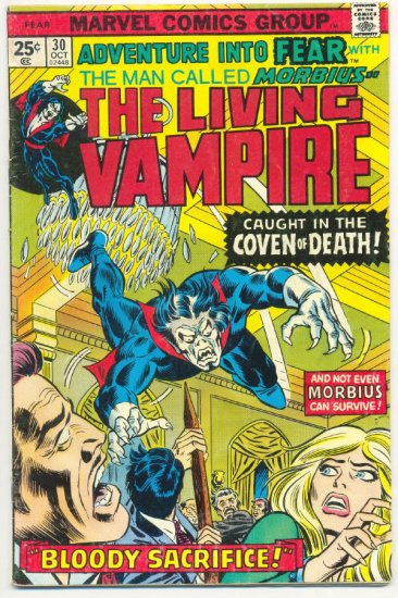 Adventure Into Fear #30 Morbius The Living Vampire 1975