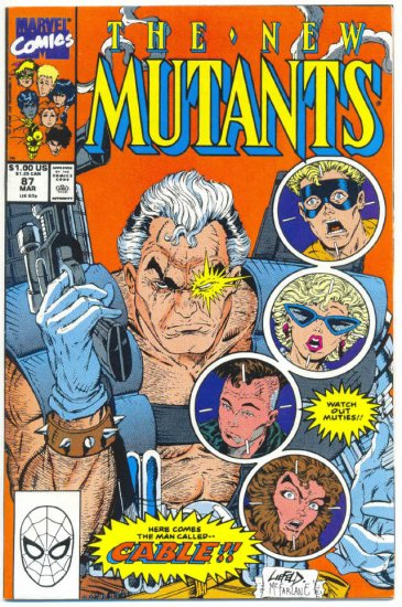 New Mutants #87 1st App Cable 1st Print Liefeld Art
