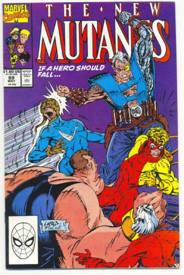 New Mutants #89 If A Hero Should Fall...  Liefeld McFarlane Art