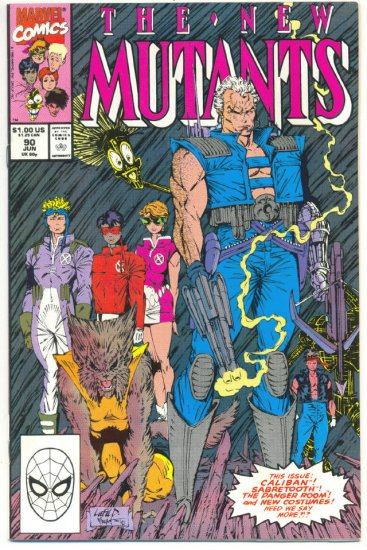 New Mutants #90 To Hunt the Hunter Liefeld Art