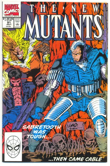 New Mutants #91 Prey For The Living Liefeld Art