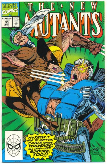 New Mutants #93 Cable vs Wolverine Liefeld Art