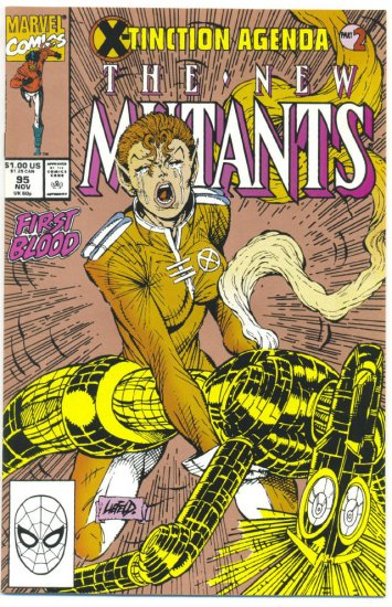 New Mutants #95 First Blood X-Tinction Agenda Gold Cover