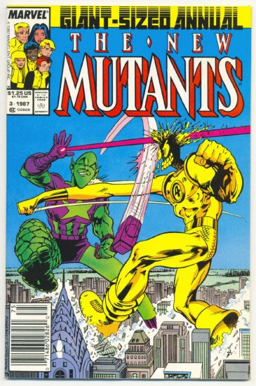 New Mutants Annual #3 Impossible Man Alan Davis Art