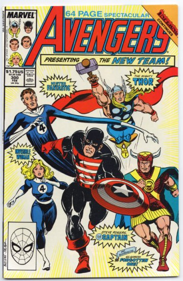 Avengers #300 Presenting The New Team! Giant-Size 1988