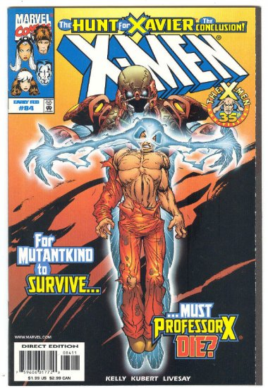 X-Men #84 Hunt For Xavier Conclusion 1999
