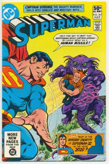 Superman #361 Stowaway From The Stars 1981