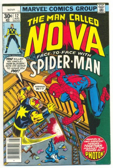 The Man Called Nova #12 Face To Face With Spider-Man 1977