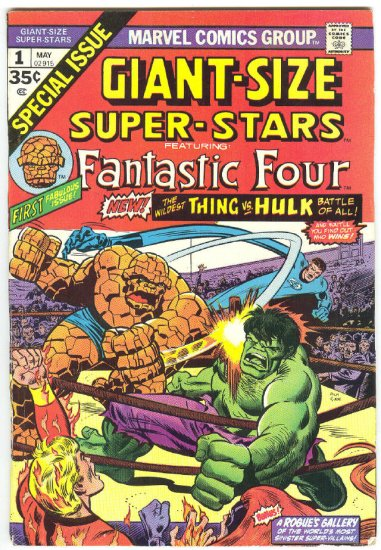 Giant-Size Super-Stars #1 Classic Hulk vs Thing battle 1974
