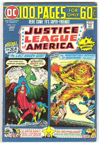 Justice League Of America #115 Giant-Size 1975