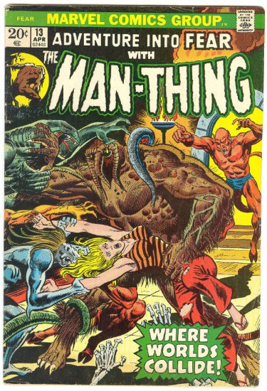 Adventure Into Fear #13 Early Man-Thing Mayerik art