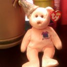 TY OCTOBER the BIRTHDAY BEAR BEANIE BABY