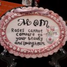 """MOM"" PINK CERAMIC PLAQUE"