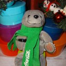 Coca-Cola Seal in Green Scarf Bean Bag Plush
