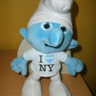 The Smurfs 2011 Movie Plush Talking Soft Doll I Love New York
