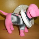 "VICTORIA SECRET NAUTICAL SS PINK MINI DOG ""LIVING THE GOOD LIFE"" SAILOR DOG"