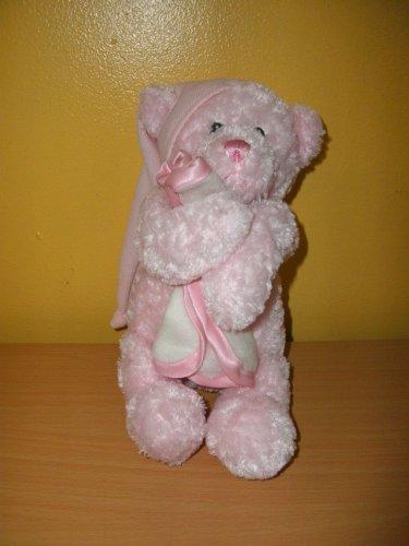 Baby Gund Nighty Night PINK Musical Teddy Bear Plush Baby Toy # 58000
