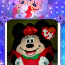 Disney TY Beanie BALLZ ~ Christmas Minnie Mouse Plush