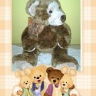 TY CLASSIC 2003 BROWN TEDDY BEAR GRIDDLES PLUSH STUFFED ANIMAL