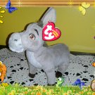 Ty Beanie Babies Original ~ DONKEY from SHREK ~ DVD Exclusive Plush
