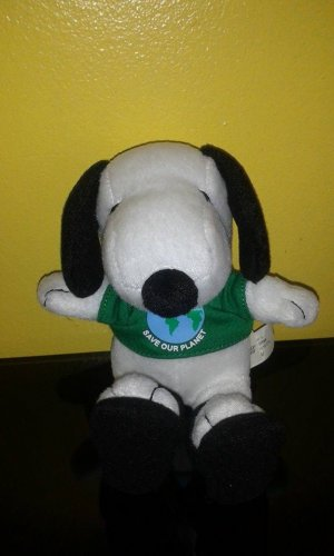 METLIFE PEANUTS SAVE THE PLANET SNOOPY DOG PLUSH
